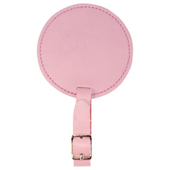 TPK Leather Line – Premium Leather Golf Bag Tag, Round, Pink