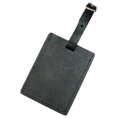TPK Leather Line Bag Tags – Charcoal Black, Premium Leather Luggage Tag