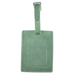 TPK Leather Line Bag Tags – Fairway Green, Premium Leather Luggage Tag