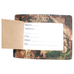 TPK Leather Line Bag Tags – Advantage Timber, Premium Leather Luggage Tag