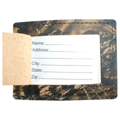 TPK Leather Line Bag Tags – Mossy Oak, Premium Leather Luggage Tag
