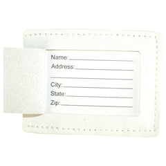 TPK Leather Line Bag Tags – White Pearl, Premium Leather Luggage Tag