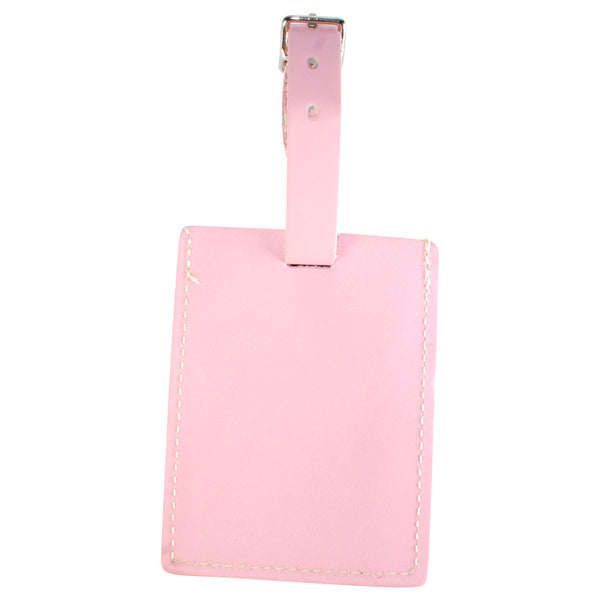 TPK Leather Line Bag Tags – Pink, Premium Leather Luggage Tag