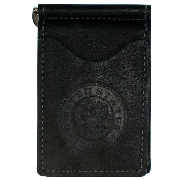 Military Back Saver Wallet – United States Navy – Navy Dove, Nubuck Suede Leather with Front Pocket Design