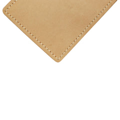 Military Back Saver Wallet – United States Coast Guard - Desert Sand, Nubuck Suede Leather with Front Pocket Design
