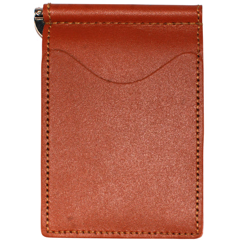 Back Saver Wallet – Brown, Full Grain Leather with Front Pocket Design