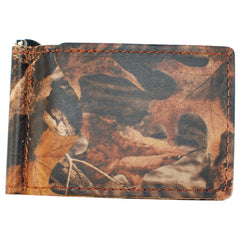 Back Saver Wallet – Advantage Timber - Camo, Full Grain Leather with Front Pocket Design