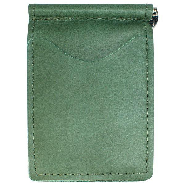 Backsaver Wallet – Fairway Green, Full Grain Leather with Front Pocket Design, Can Be Customized