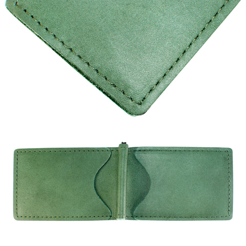 Back Saver Wallet – Fairway Green, Full Grain Leather with Front Pocket Design