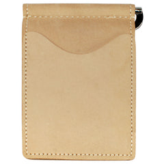 Back Saver Wallet – Desert Sand, Nubuck Suede Leather with Front Pocket Design, Can Be Customized