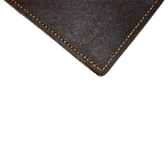 Back Saver Wallet – Mahogany, Full Grain Leather with Front Pocket Design