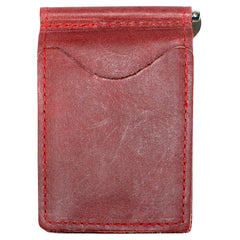 Back Saver Wallet – Burgandy Red, Full Grain Leather with Front Pocket Design