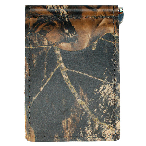 Back Saver Wallet – Mossy Oak - Camo, Full Grain Leather with Front Pocket Design