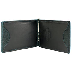 Back Saver Wallet – Black, Full Grain Leather with Front Pocket Design, Can Be Customized