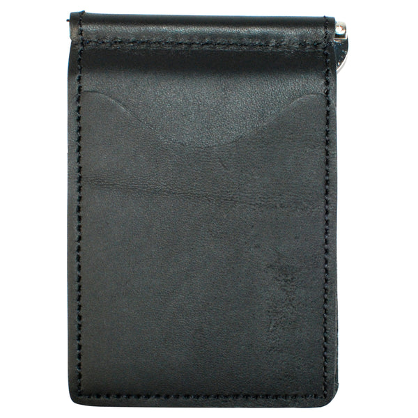 Back Saver Wallet – Ebony Black, Premium Full Grain Leather with Front Pocket Design, Can Be Customized