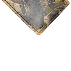 Back Saver Wallet – Realtree Hardwood - Camo, Full Grain Leather with Front Pocket Design