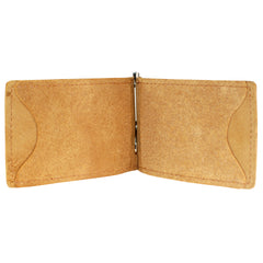 Back Saver Wallet  – Natural Suede Leather