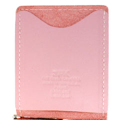 Back Saver Wallet – Pink, Full Grain Leather with Front Pocket Design, Can Be Customized