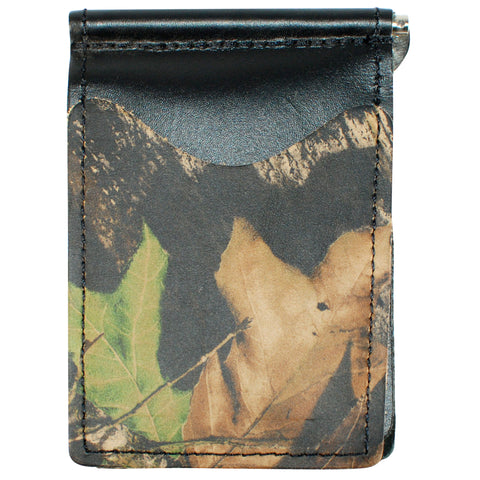 Black Mossy Oak - Full Grain Leather