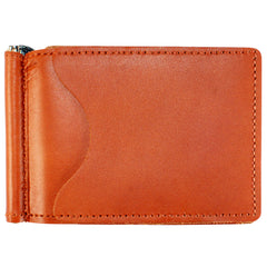 Back Saver Wallet – Brown, Full Grain Leather with Front Pocket Design, Can Be Customized