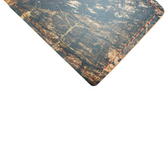Back Saver Wallet – Brown Mossy Oak - Full Grain Leather with Front Pocket Design, Can Be Customized