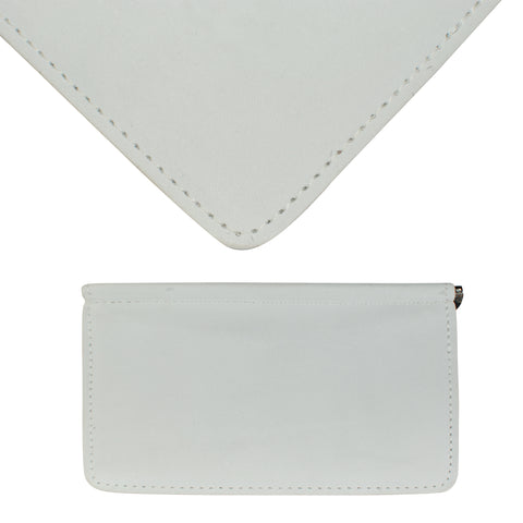 TPK Scorecard Holders  – White Pearl, Full Grain Leather Scorecard Holder