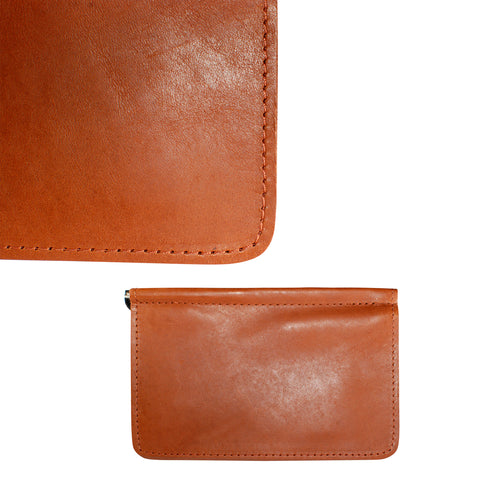TPK Scorecard Holders  – English Tan, Premium Full Grain Leather Scorecard Holder