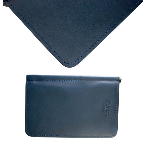 Ocean Blue Napa, Premium Full Grain Leather Scorecard Holder