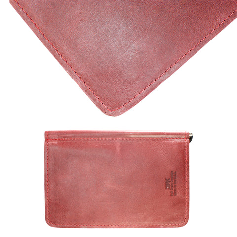 TPK Scorecard Holders  – Burgundy Red, Full Grain Leather Scorecard Holder