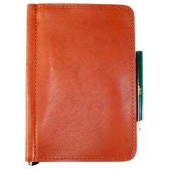 TPK Scorecard Holders  – Bourbon Red, Premium Full Grain Leather Scorecard Holder –  Store Yardage Book Holder for Golf