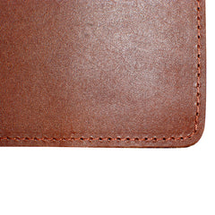Yardage PGA Book Holder - Professional Tour Version, Chestnut Brown, Full Grain Leather Book Cover