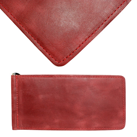 Yardage PGA Book Holder - Professional Tour Version, Burgundy Red, Full Grain Leather Book Cover