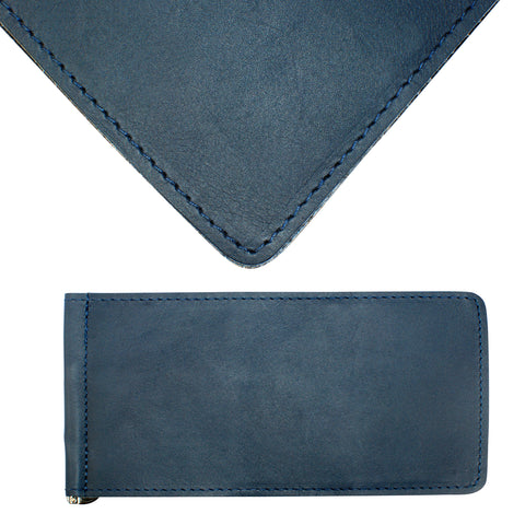 Yardage PGA Book Holder - Professional Tour Version, Ocean Blue, Premium Full Grain Leather Book Cover