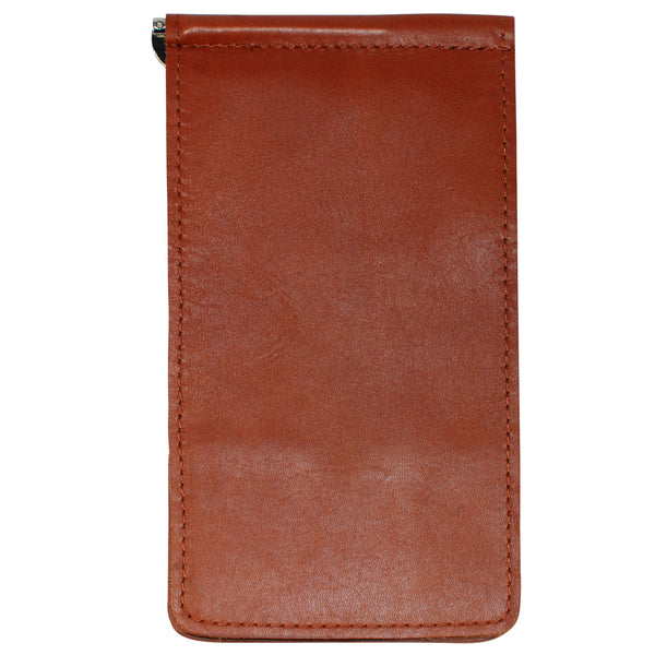 Yardage PGA Book Holder - Professional Tour Version, Bourbon Red, Premium Full Grain Leather Book Cover