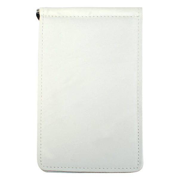 Yardage PGA Book Holder - Professional Tour Version, White Pearl, Full Grain Leather Book Cover
