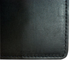 Yardage PGA Book Holder - Professional Tour Version, Ebony Black, Premium Full Grain Leather Book Cover