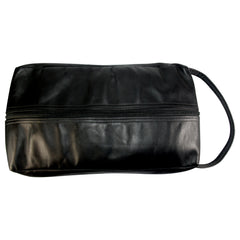 TPK Full Grain Leather  Shoe Bag, Black