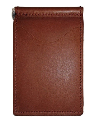 Back Saver Wallet – Bourbon Red, Full Grain Leather with Front Pocket Design