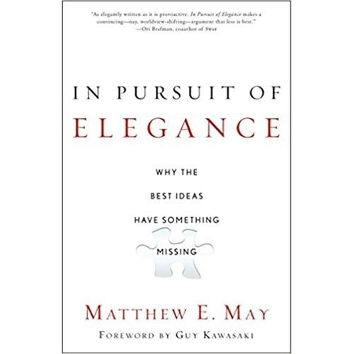 In Pursuit of Elegance - BOOKS FIRST ~ Mad About Books