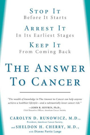 The Answer to Cancer: Stop It before It Starts, Arrest It .. - BOOKS FIRST ~ Mad About Books