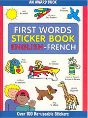 First Words Sticker Book: English - French (First Words Sticker Books) (French) Paperback - BOOKS FIRST ~ Mad About Books