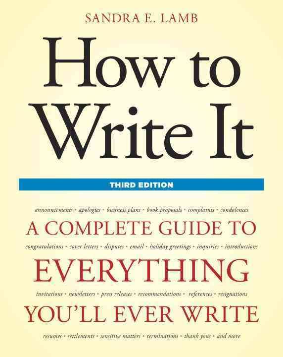How to Write It, Third Edition - BOOKS FIRST ~ Mad About Books