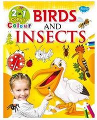 2 In 1 Copy To Colour Birds & Insects