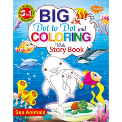 3-in-1 Big Dot To Dot & Colouring With Story