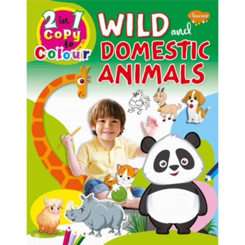 2-in-1 Copy To Colour Wild & Domestic Animals