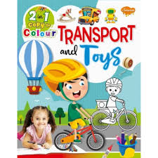 2-in-1 Copy To Colour Transport & Toys