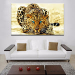 Large Leopard Canvas Print No Frame