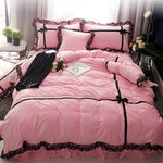 Pretty In Pink Reactive Print 4 Piece Bedding Set