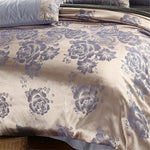 Duvet Cover Sets Solid Colored / Luxury Cotton Jacquard 4 PieceBedding Sets