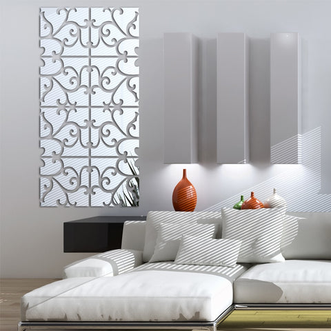 3D large mirror wall sticker